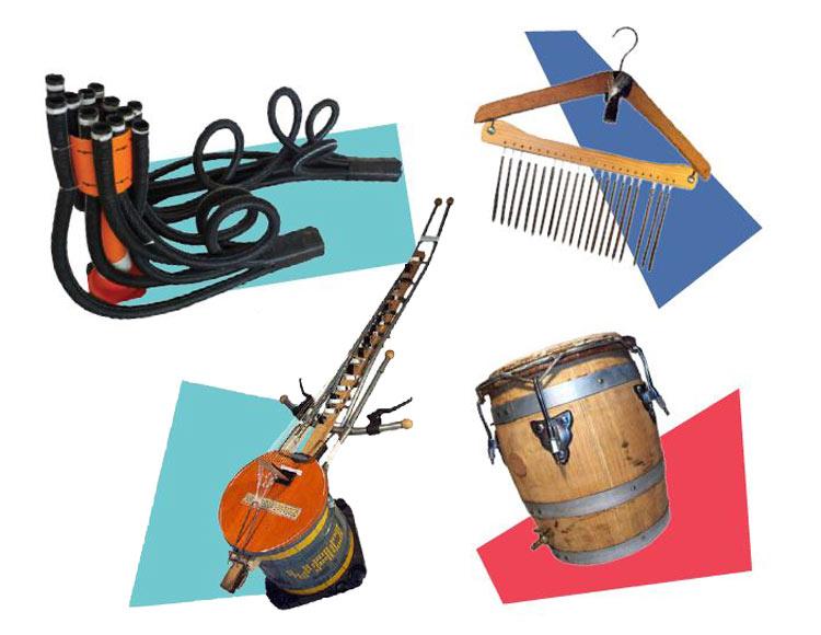 Laboratorio creativo di strumenti musicali creati con materiali di recupero e di musica d'insieme a cura di Riciclato Circo Musicale!